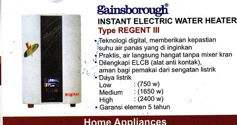 Water Heater Gainsborough Indonesia water heater gainsborough water heater elektrik instant