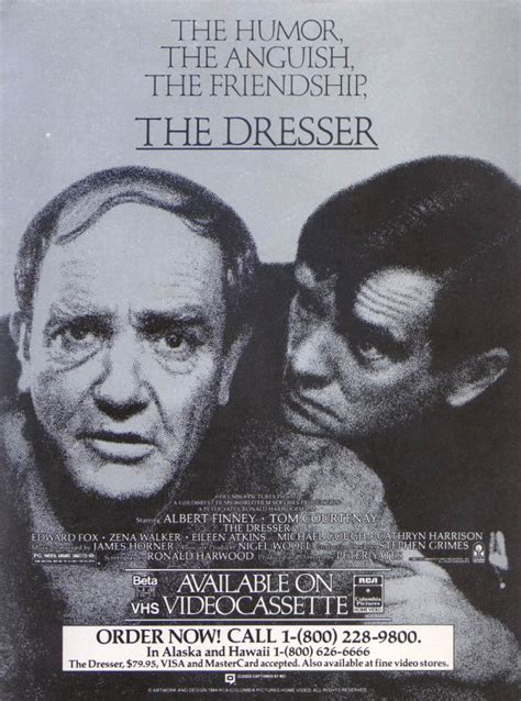 Albert Finney The Dresser by Albert Finney Tom Courtenay The Dresser Ad 1983