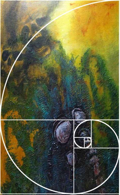 Painting Section by The Golden Ratio Or Fibonacci Spiral Darkstorm Creative