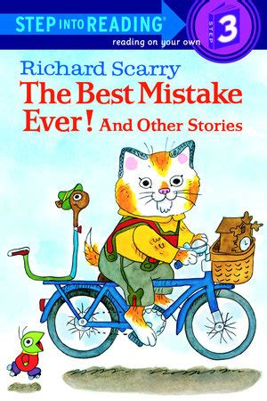 sir blunder a bedtime story for big books step into reading richard scarry s the best mistake