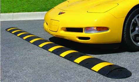 Safety Striped Speed Bump   TreeTop Products