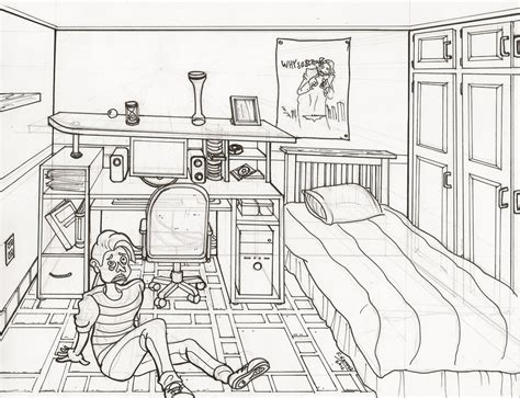 living room how to draw a living one point perspective room line drawing 1 by shamash on deviantart