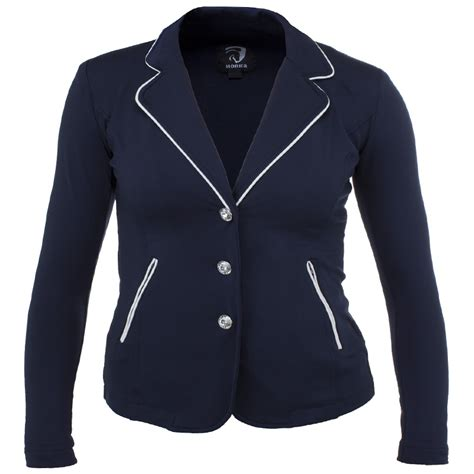 Jaket Ridding horka softshell competition jacket navy front