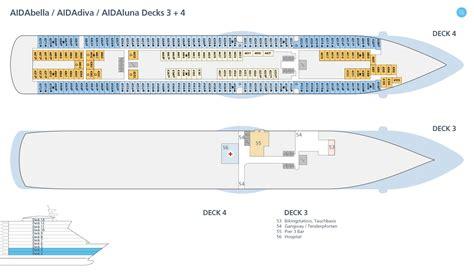 aida kabinen deck 4 deckspl 228 ne aidadiva decksplan aidadiva aida kreuzfahrten