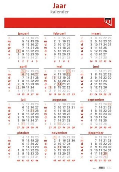 jaarkalender  quantore  stuk bij datas