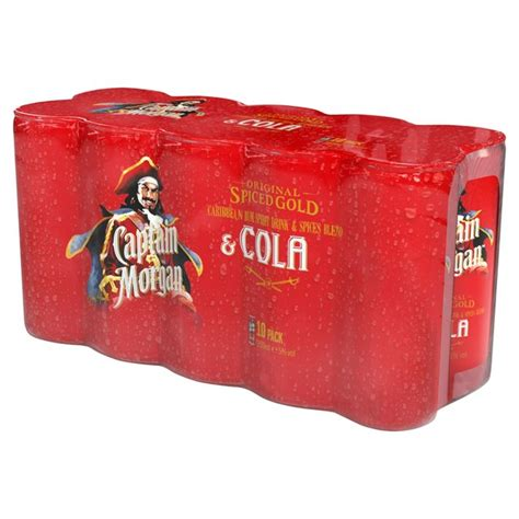 captain spiced gold captain original spiced gold cola 10 x 250ml from