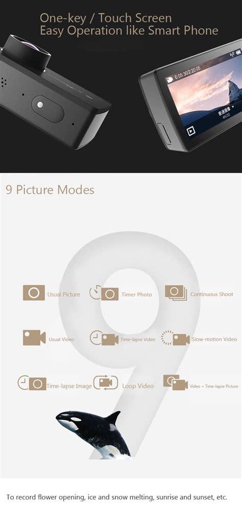 Xiaomi Yi 2 Wifi 4k Lcd Display Kamera White xiaomi yi ii 4k actionkamera actionkamera de