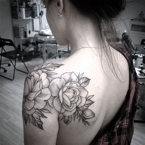 flower shoulder cap tattoo 40 just shoulder tattoos to try in 2016 shoulder