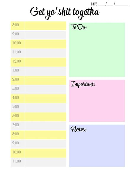 free printable daily planner by hour free printable planner ideas pinterest track photos