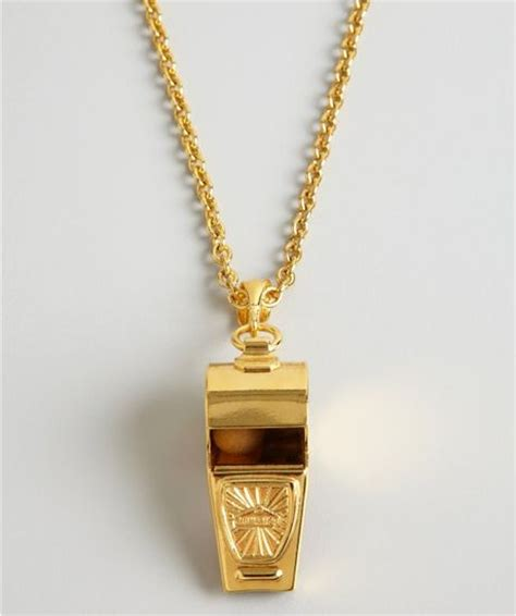 ben amun gold whistle pendant necklace in gold lyst