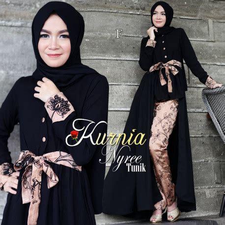 Baju Muslimah Kimi Merah nyree set by kurnia gamis model terbaru pusat busana gaun pesta muslim modern