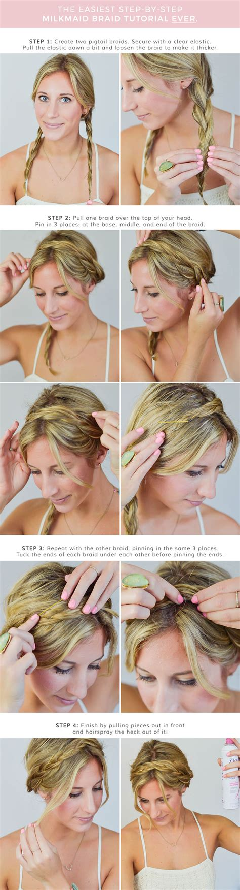 Add Milkmaid Braids To Your Bag Of Hair Tricks by The Only Milkmaid Braid Tutorial You Ll Need