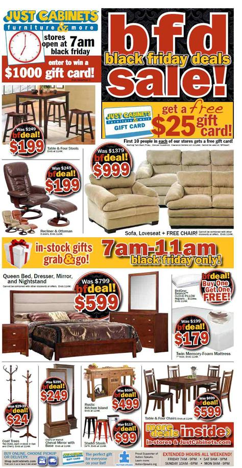 black friday cabinet sale just cabinets furniture black friday 2013 ad find the