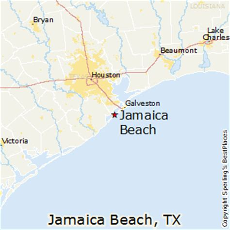 beaches in texas map best places to live in jamaica texas