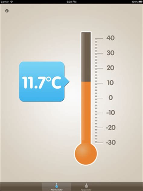 Termometer Uap thermometer and hygrometeripad app finders