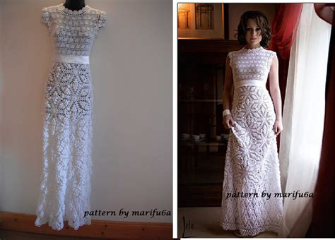 pattern crochet for dress craftdrawer crafts crochet wedding dress patterns and