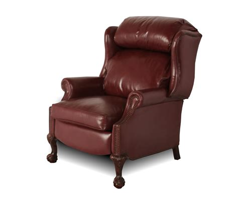wing recliner wingback leather recliner