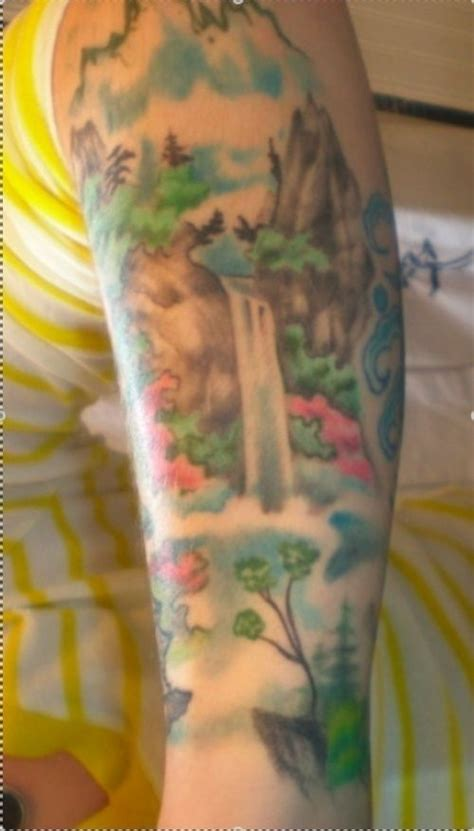 waterfall tattoo waterfall tattoos in rainforest waterfall
