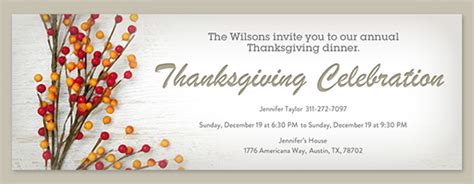 thanksgiving invitation card template free thanksgiving dinner invitations evite