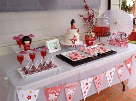 Japanese Themed Birthday Party | todi customer parties kokeshi doll japanese theme