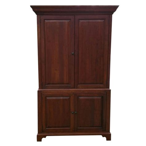 Tv Armoire Cabinet by Solid Wood Armoire Tv Cabinet Chairish