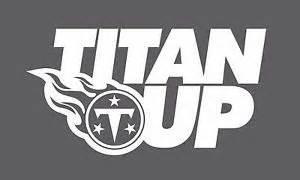 titan up tennessee titans nfl team logo vinyl decal