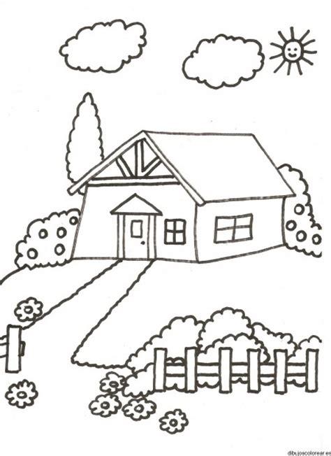 imagenes bonitas para colorear de paisajes dibujos de paisajes con casas bonitas para pintar