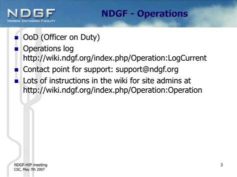 agenda  ndgf status powerpoint