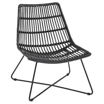loungestoel tuin kunststof loungestoel rotan zwart tuinstoelen tuinmeubelen