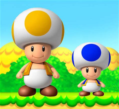 blue yellow toad from mario blue toad mario
