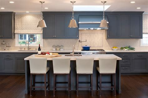 Blue Gray Cabinets Kitchen Grey Kitchen Cabinets The Best Choice For Your Kitchen Homestylediary
