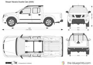 Nissan Frontier Bed Size The Blueprints Com Vector Drawing Nissan Navara Double Cab