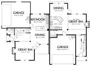 Corner Lot Duplex Plans Duplex With Single Family Appearances 69382am 2nd