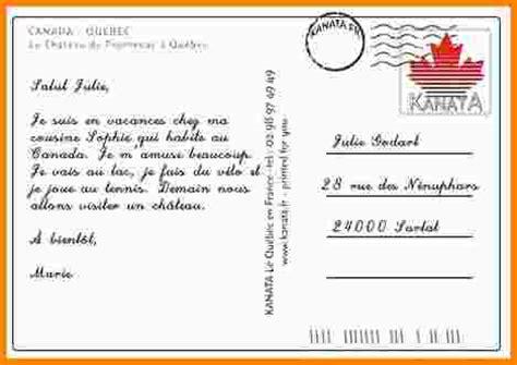 exemple lettre postale exemple lettre 8 ecrire une carte postale modele de lettre