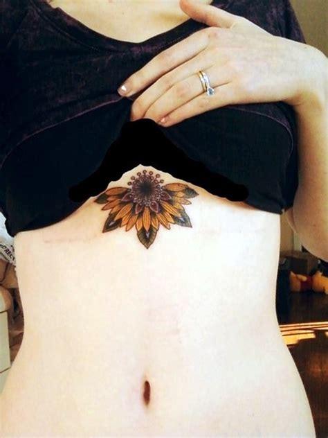 lotus tattoo under chest 101 charming underboob tattoos designs for women