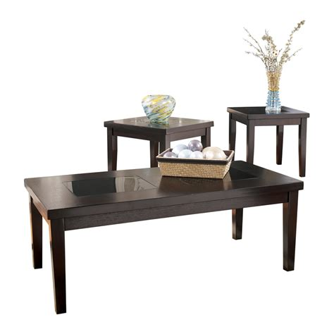 denja 3pc brown coffee table set dallas tx