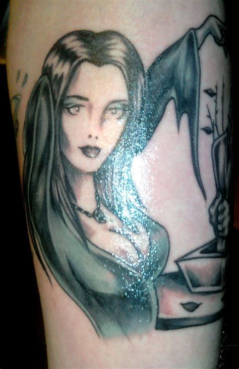 morticia addams tattoo family tattoos family tattoos