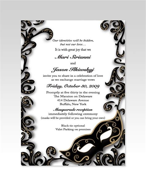 masquerade invitations templates masquerade wedding invitation s wedding