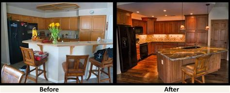 kitchen remodel before and after ideas bi level kitchen remodels before and after small