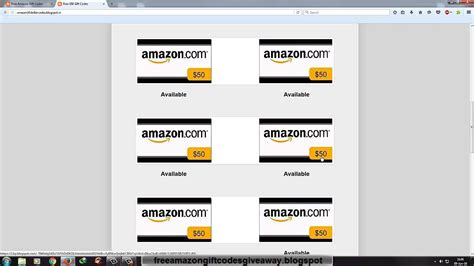 Free Gift Cards Codes - easiest method get free amazon gift codes gift cards free really fast 2016 youtube
