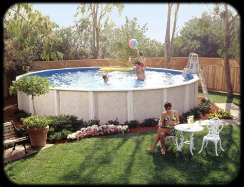 Above Ground Pool Backyard Landscaping Ideas by Triyae Small Backyard Landscaping Ideas With Above