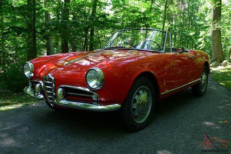 Alfa Romeo For Sale Usa by 1964 Alfa Romeo Giulia Spider Veloce Alfa Romeo Giulietta