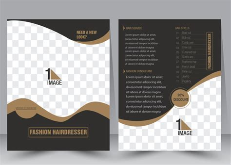 flyer template vector illustration with checkered
