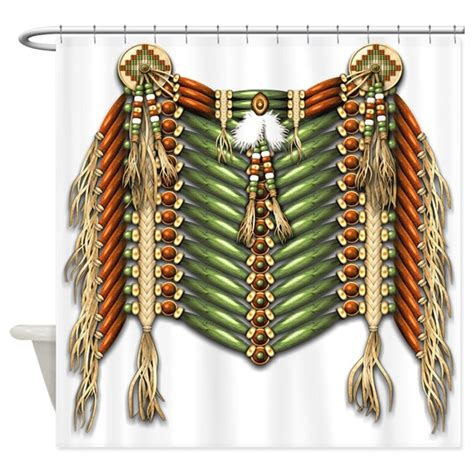 native american curtains native american breastplate 3 shower curtain by naumaddicarts