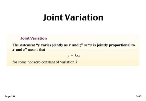 joint variation