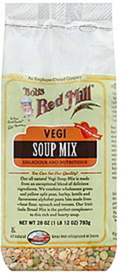 Bob S Mill Vegi Soup Mix 793g bobs mill soup mix vegi 28 0 oz nutrition information shopwell