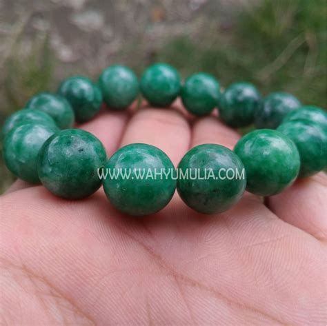 Jade Giok by Gelang Batu Giok Jade Asli Kode 487 Wahyu Mulia