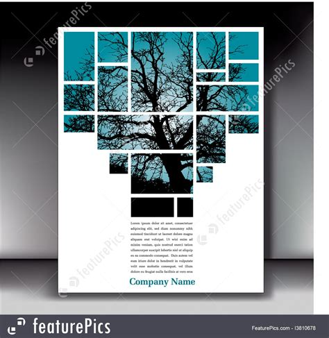 poster collage layout collage unique tree page layout for web or print stock