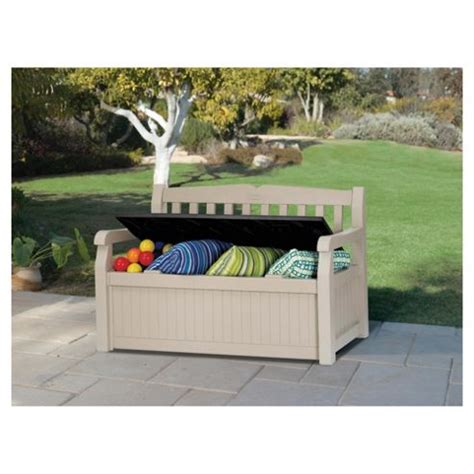 keter plastic storage bench buy keter eden plastic storage bench from our garden