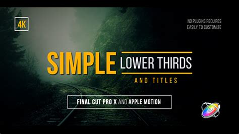 Simple Lower Thirds And Titles Fcpx By Whitemarker Videohive Cut Pro Lower Thirds Templates Free